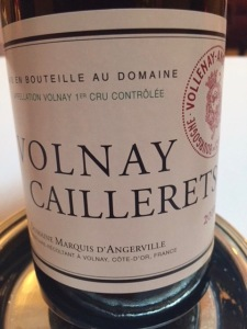 d'Angerville Volnay Caillerets