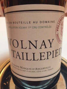 d'Angerville Volnay Taillepied