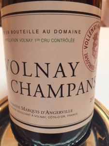 d'Angerville Volnay Champans