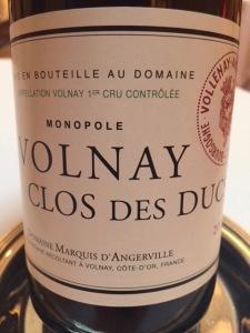 d'Angerville Volnay Clos des duc